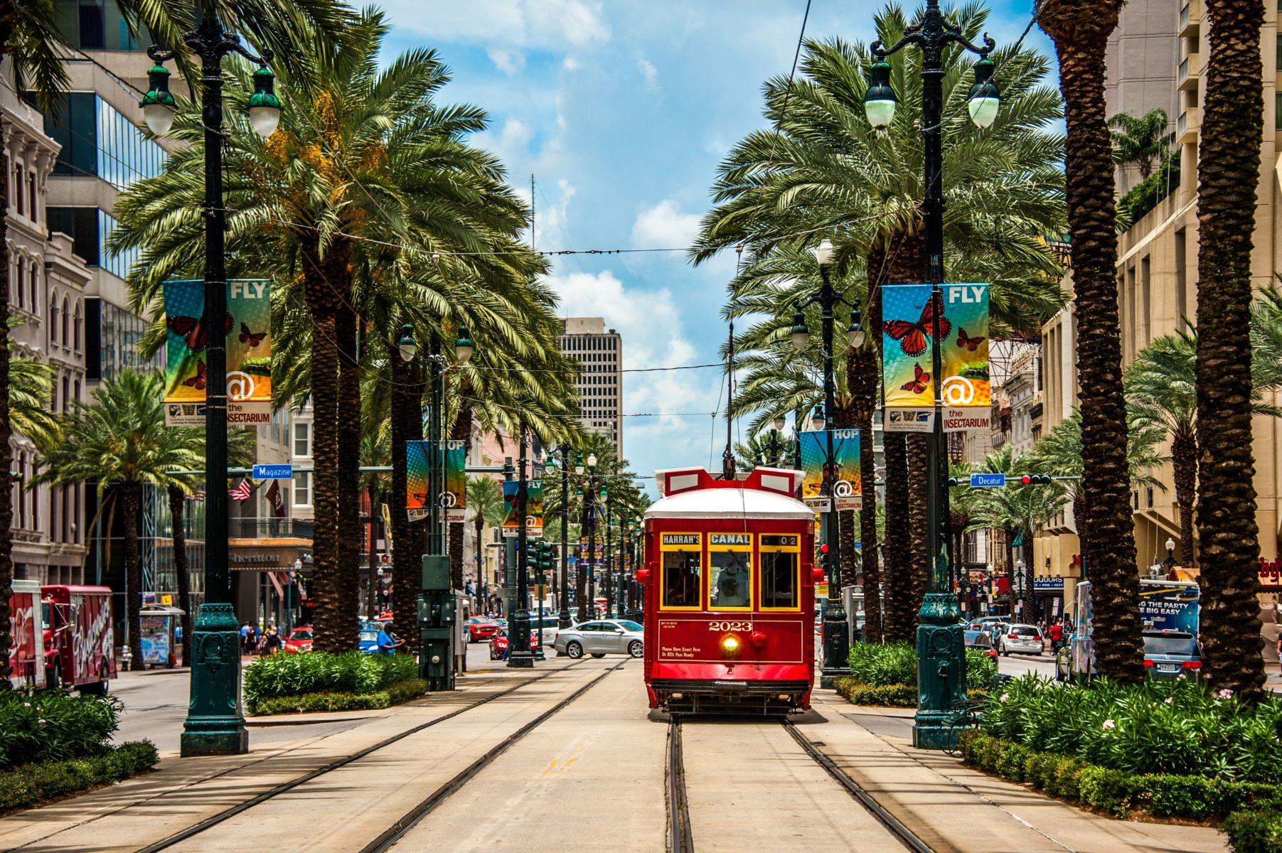 le strade di New Orleans, effervescente città del Louisiana