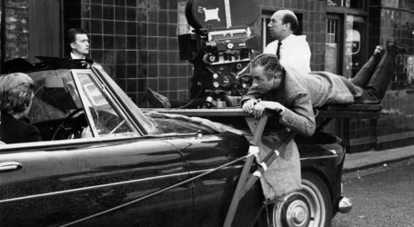 Tazio Secchiaroli sul set di Blow Up regia di Michelangelo Antonioni 1966
