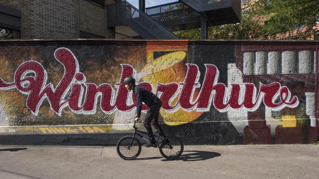 Winterthur, con le sue piste ciclabili