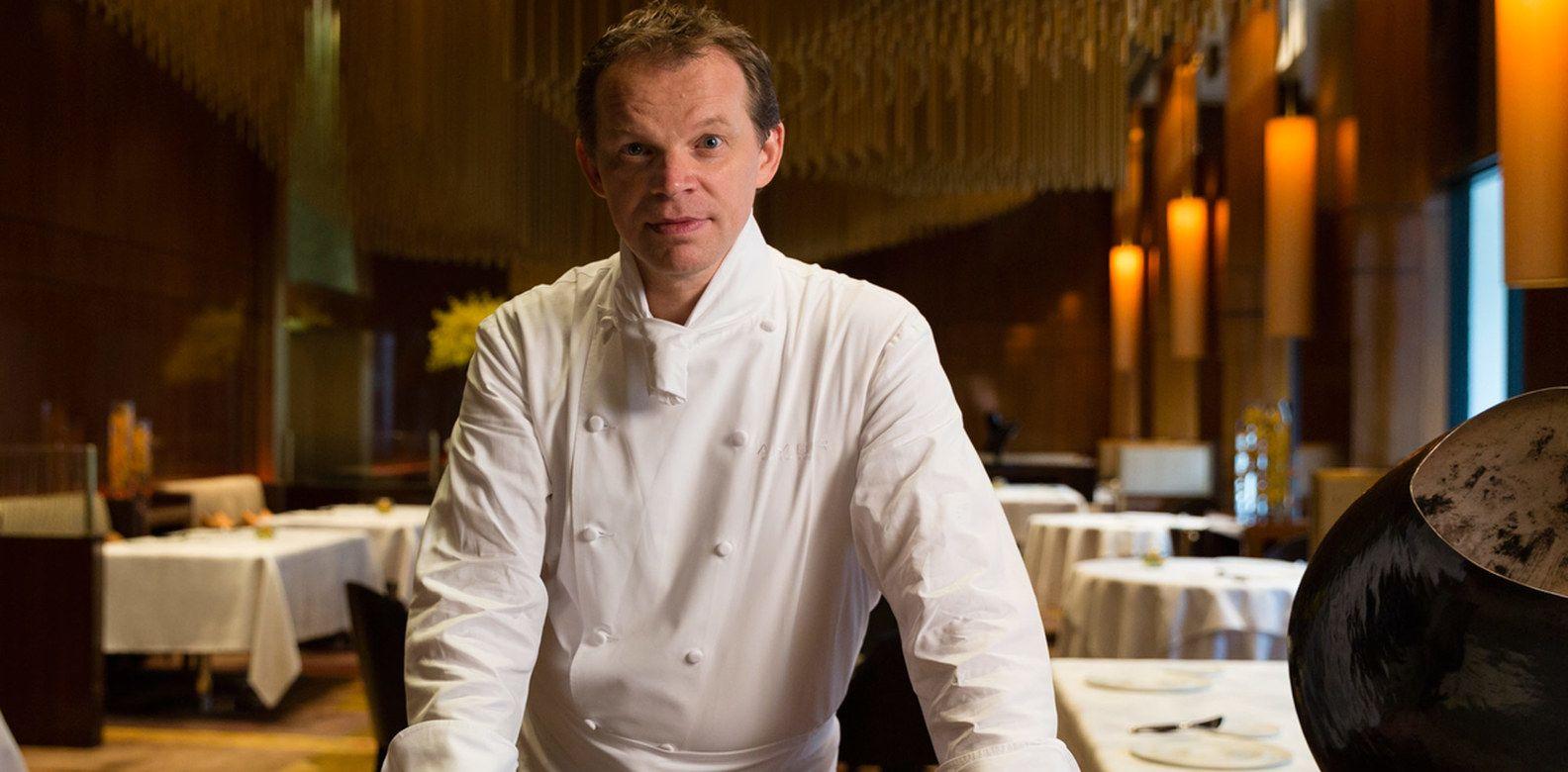 Richard Ekkebus, chef del ristorante Amber del Mandarin Oriental Hong Kong