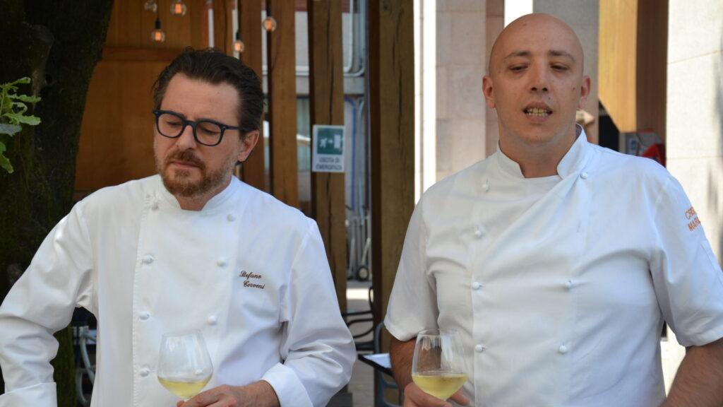 Cristian Marasco con Stefano Cerveni, Executive Chef dell'intero Gruppo Vist