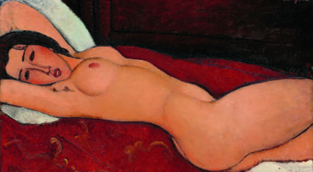"Amedeo Modigliani, ""Nudo disteso"" (1917)"