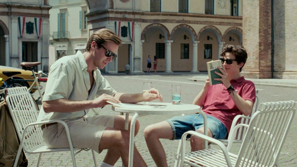 Call me by your name di Luca Guadagnino, una scena del film