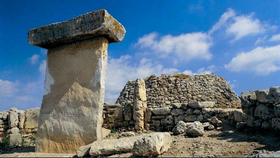 Reperti di edifici archeologici di Trepucó a Minorca