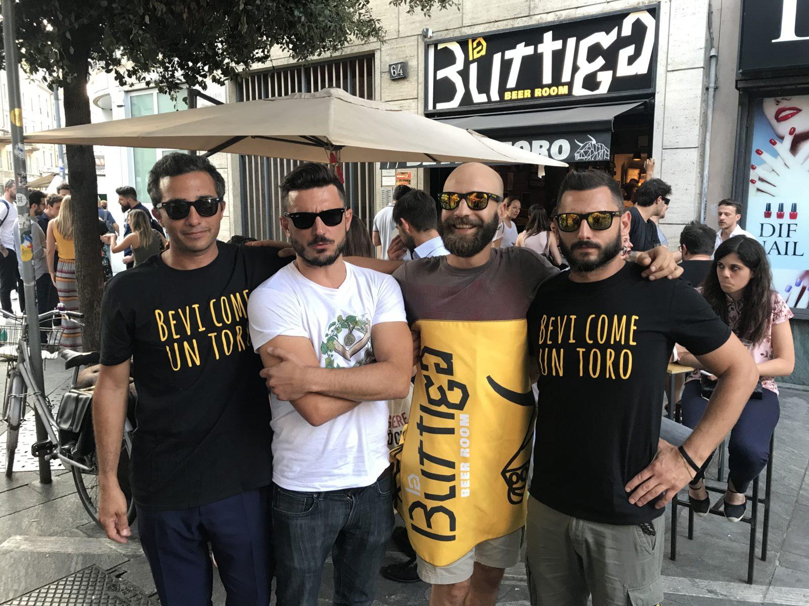 I volti de La Buttiga. Da sinistra, Luca Basellini, Stefano Pozzi, Giovanni Bruschi e Nicola Maggi