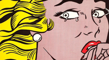 "Roy Lichtenstein ""Crying Girl"" 1963 (Courtesy Sonnabend Gallery, New York)"